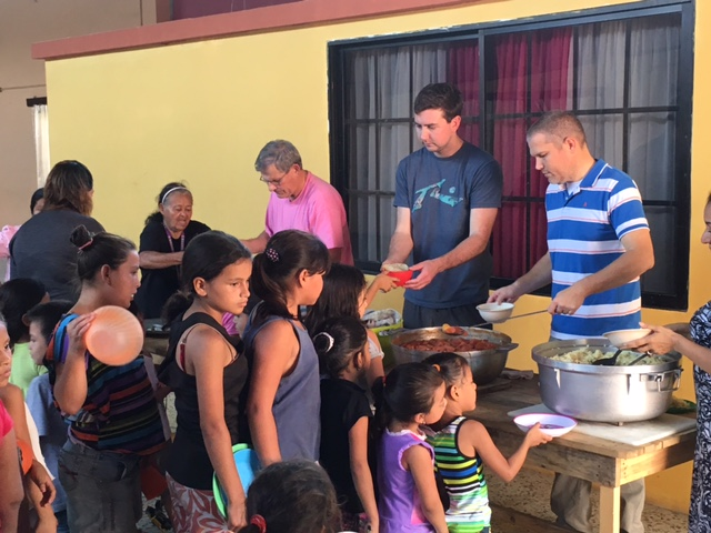 Feeding center in San Pedro Sula, Honduras